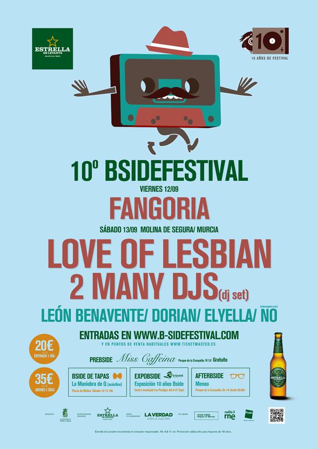 b-side festival cartel decimo aniversario