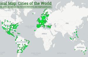 mapa musical spotify