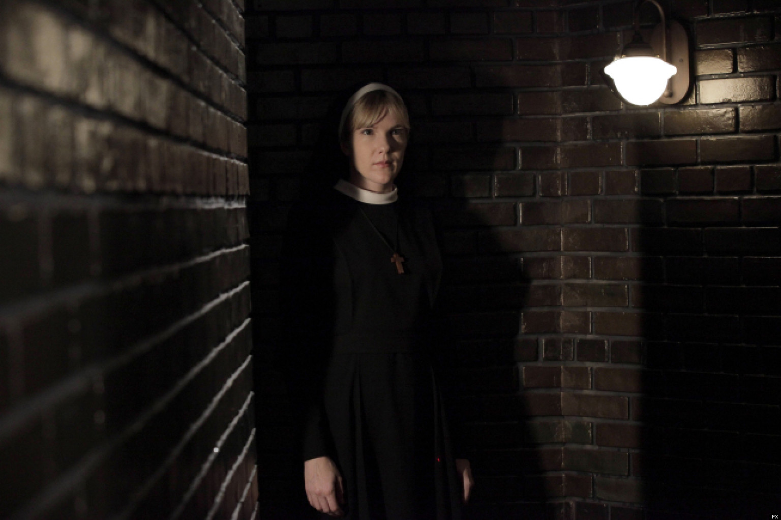 AMERICAN HORROR STORY Nor'easter -- Episode 203, Wednesday, October 31, 10:00 pm e/p) -- Pictured: Lily Rabe as Sister Mary Eunice -- CR: Byron Cohen/FX