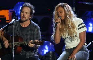 Eddie Vedder y Beyoncé