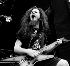 Pantera guitarist Dimebag Darrell live at Castle Donington Monsters of Rock, United Kingdom, 1994. (Photo by Martyn Goodacre/Getty Images)