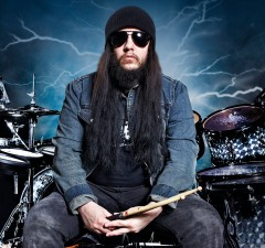 LONDON, UNITED KINGDOM - JUNE 12: Joey Jordison, drummer of American heavy metal band Slipknot, photographed during a portrait shoot for Rhythm Magazine at the Brixton Academy, June 12, 2013. (Photo by Jesse Wild/Rhythm Magazine via Getty Images)