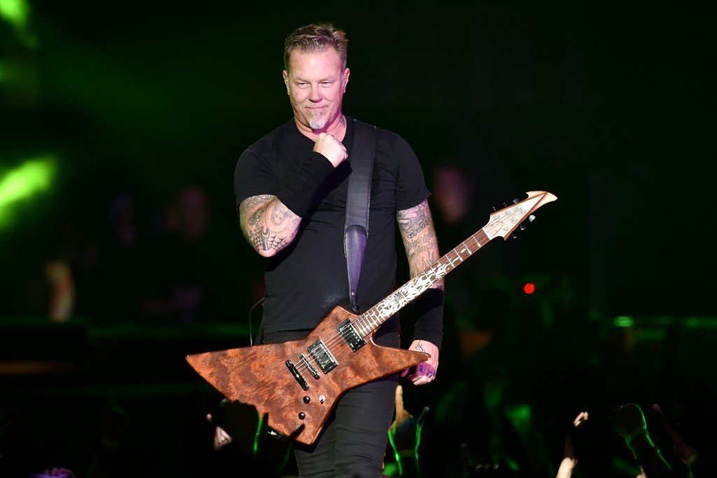 SAN FRANCISCO, CA - FEBRUARY 06: Musician James Hetfield of Metallica performs onstage at CBS RADIO's third annual 'The Night Before' at AT&T Park Presented by Salesforce on February 6, 2016 in San Francisco, California. (Photo by Kevin Winter/Getty Images for CBS)